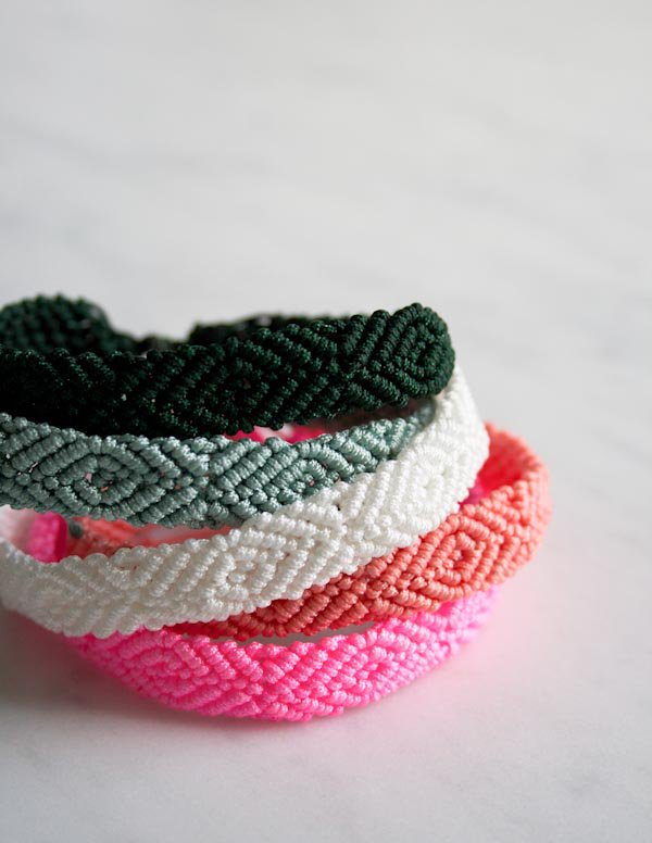 Friendship bracelet pattern from Purl Soho