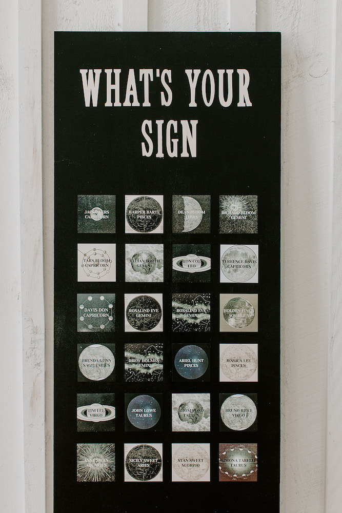 Astrology wedding sign