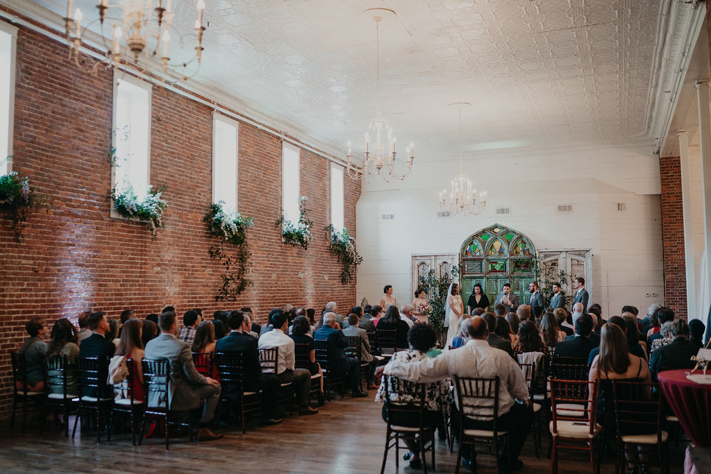 garden wedding inside The Ravington in Northwest Arkansas