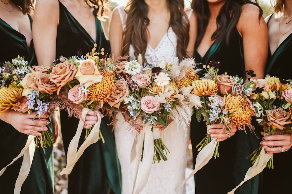 Wedding bouquets from Meus Floral in Fayetteville Arkansas