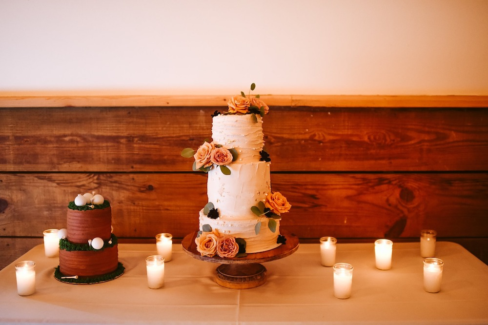 Sassafras Springs Vineyard & Winery Wedding cake