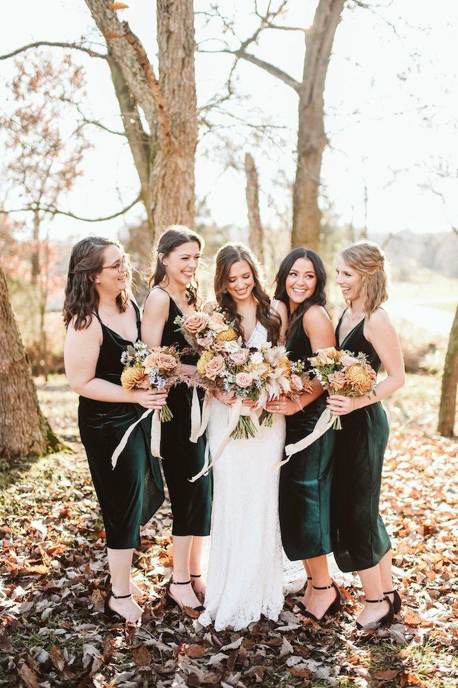 Sassafras Springs Vineyard & Winery Bride and bridesmaids