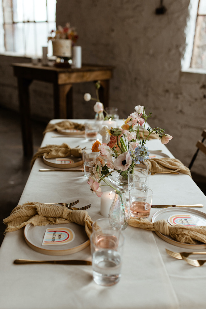 Wedding table with items from Host in Fayetteville